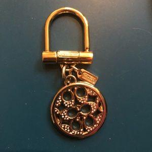 Coach gold keychain